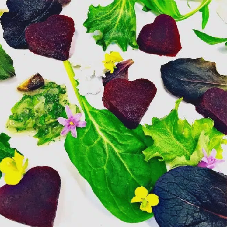 Heart Beets Salad for Valentine's Day