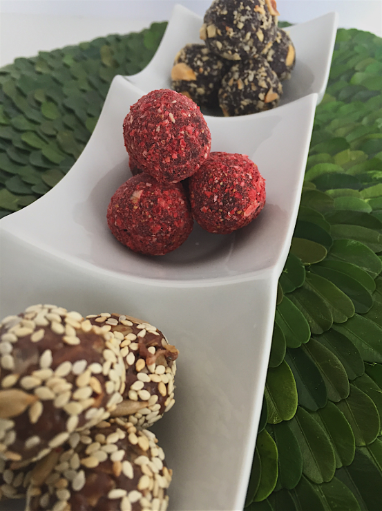 A Trio of Truffle Bites for Healthy Dessert or Snack