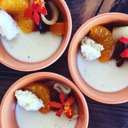 Burnt Honey and Chamomile Panna Cotta